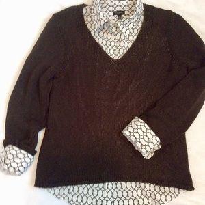 Sweater & blouse